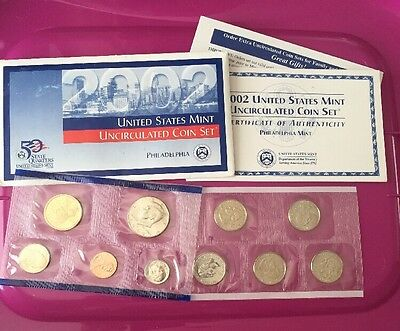 2002 United States Mint Uncirculated Coin Set Philadelphia Mint
