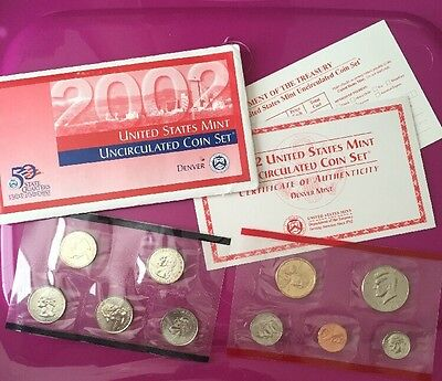 2002 United States Mint Uncirculated Coin Set Denver Mint