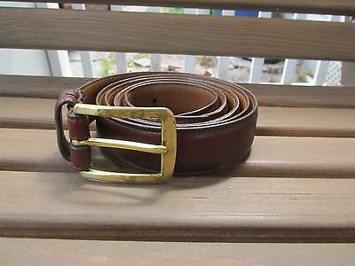 Allen Edmonds Sz 36 Grown Calf Genuine Leather Men's Belt Made USA