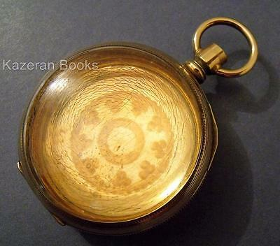 Antique Gold Plated Top Wind Fob Pocket Watch Case By TW Co