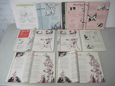 Lot Of 9 Spine Roll Fold Magazines With Dr. Seuss Drawings & Stories In Them