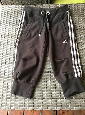 Women's Adidas Joggers Small Black Cropped Capri Pants S