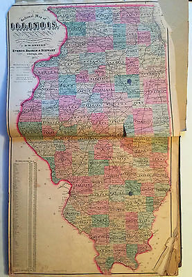 1872 McHENRY COUNTY Hand-Colored Plat Book