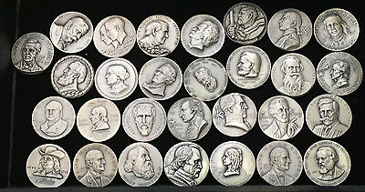 Lot of (29) Medallic Art Co New York .999 Fine Silver Medals w/ COA's - 62 OZT