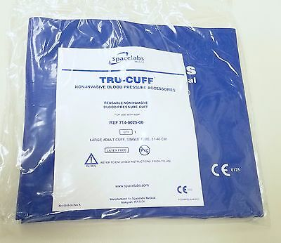 New Spacelabs Tru-Cuff Large Adult NIBP Cuff - Size 31-40cm 714-0025-00