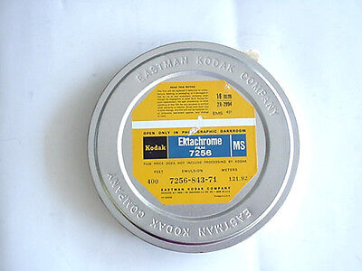 Vintage Kodak Ektachrome MS Film #7256 16mm 400' in metal can