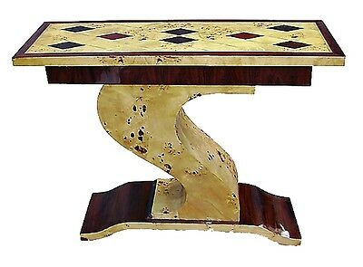 Awesome Art Deco style console geometrically inlaid