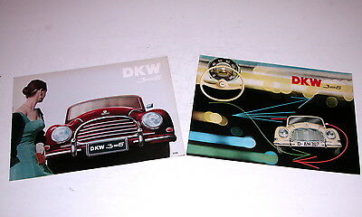 1956-57   Dkw 3=6 Factory Sales Brochures Original