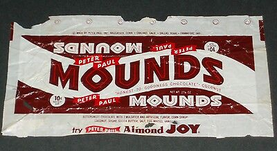 Vintage 1960's Peter Paul MOUNDS candy bar wrapper