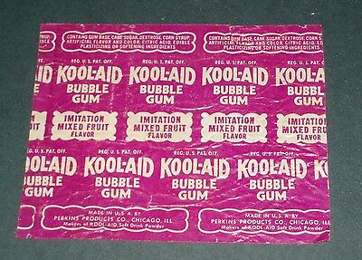 1940's Perkins Products KOOL AID bubble gum wrapper