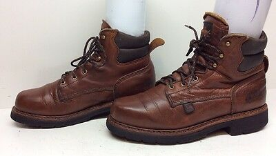 Mens Thorogood Work Leather Brown Boots Size 10.5 D