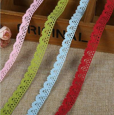 10 Yard Multicolor Lace Trim Wedding Bridal Ribbon Sewing DIY handcrafts