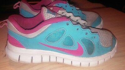 Girl's Shoes Nike Free 5.0 VY Athletic Running Sneakers 580594-005 Size 12C