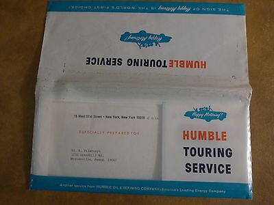 circa 1964 Humble Touring Service Kit w/ Esso European Touring Guide and Maps