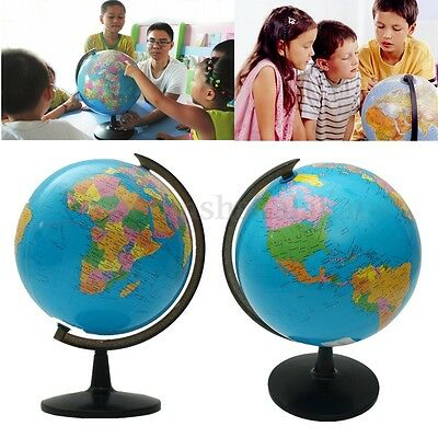 Blue Ocean World Globe Map With Swivel Stand Geography Educational Teaching Gift