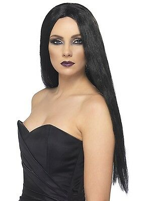 Black Long Witch Wig Scary Horror Halloween Fancy Dress Costume Accessory
