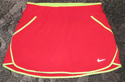 NWOT Nike Dri-Fit Coral & Yellow Athletic Sports Running Skirt Skort Size XS