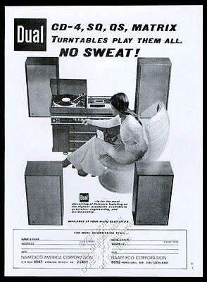 1975 Dual matrix turntable stereo photo vintage print ad
