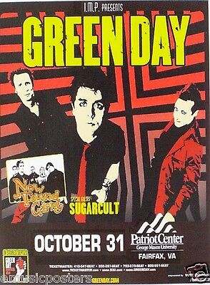 "Green Day / New Found Glory 2004 ""american Idiot Tour"" Washington Concert Poster"