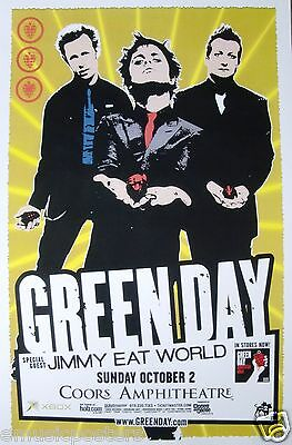 """Green Day / Jimmy Eat World 2005 """"american Idiot Tour"""" San Diego Concert Poster"""