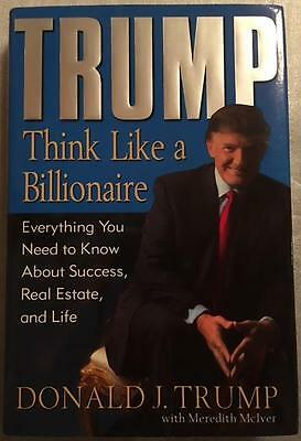 Real SIGNED, Autographed signature President DONALD TRUMP THINK LIKE BILLIONAIRE