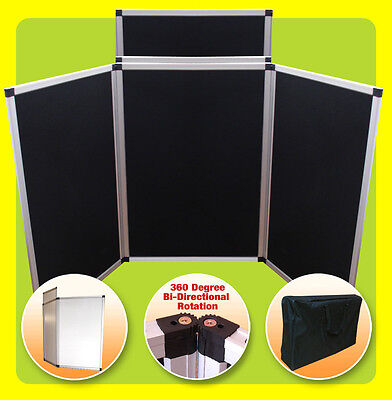 3 Panel + Header Display 6' Tabletop Folding Trade Show Presentation - BLACK