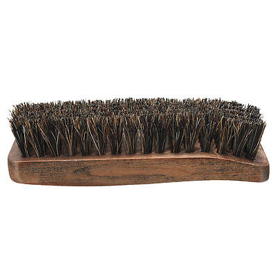 Practical Horse Hair Professional Shoe Shine Boot Polish Buffing Brush Wooden
