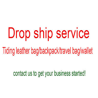 Drop Ship Business Lists For Tiding Vintage Genuine Leather Backpack Wallet Bags