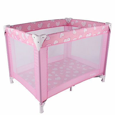 New Red Kite Sleeptight Compact Portable Baby Travel Cot Playpen Pretty Kitty