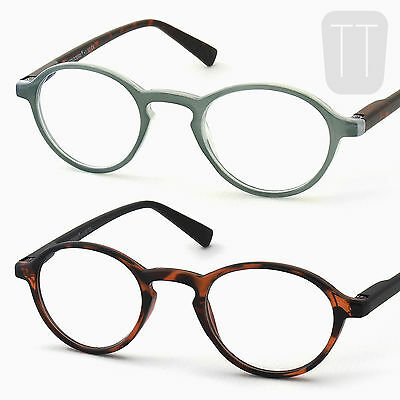 Round READING GLASSES Retro/Vintage/Geek Readers - Tortoiseshell +1+1.5+2+2.5+3