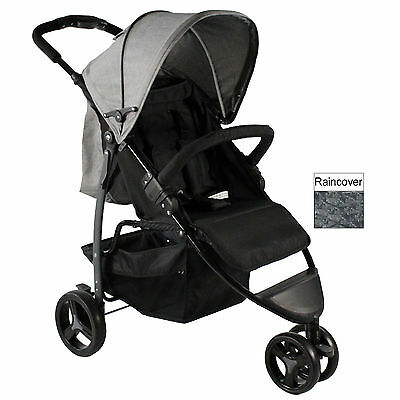 New Redkite Push Me Metro Stroller Compact Buggy Lightweight Pushchair Grey
