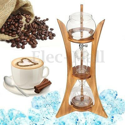 Dutch Coffee Cold Drip Dripper Water Brew Maker Serve For 8cups 800ml Home Stand