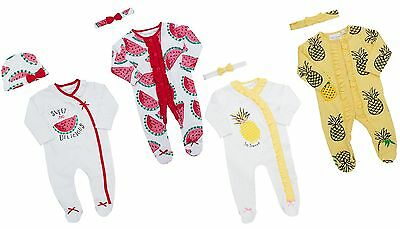 Babytown Baby Girls 2 Piece Sleepsuit & Headband Set