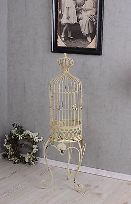 Decorative birdcage deco cage Shabby Chic aviary metal cage white