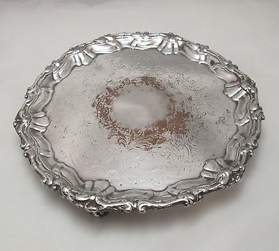 A Good Old Sheffield Plated Round Tray by Dixons - c1820