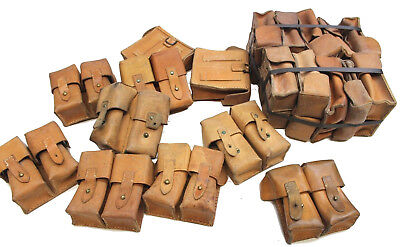 Yugoslavian Army M48 Mauser Jna Leather Duo Ammo Pouch