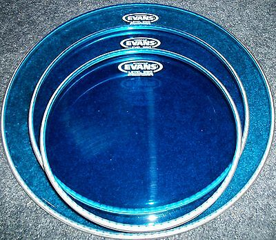 Evans BLUE Hydraulic Drum Head Pack-10-12-16 - LEVEL 360