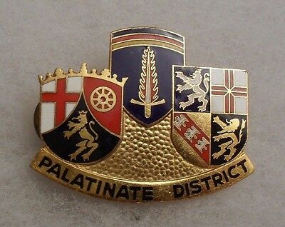 "Rare 40's Us Army Europe ""palatinate District"" Di Large 1 3/4""w German Made"