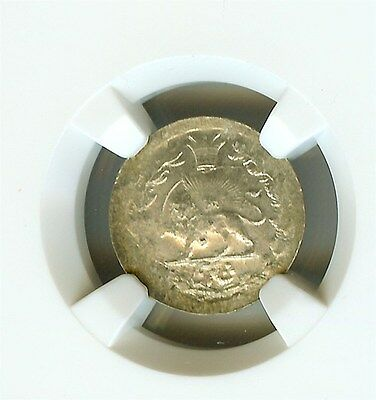 Middle Eastern (Undated) Silver Shahi  Km#965 Ngc Ms63  Scarce!