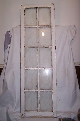Antique Window Cabinet Door Shabby Cottage Chic Architectural 10 pane Wedding