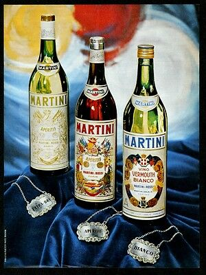 1967 Martini & Rossi Extra-Dry Aperitif Bianco vermouth 3 bottle photo print ad