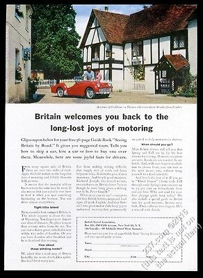 1962 Triumph TR3 red TR-3 car Cookham photo UK travel vintage print ad