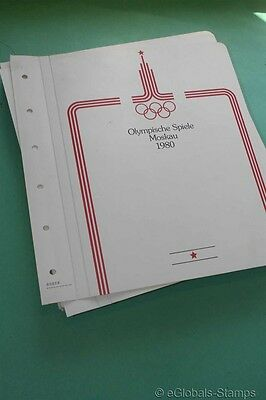 OLYMPIC GAMES Russia MNH 1980 Stamp Collection w. Mischa per 2 Sports