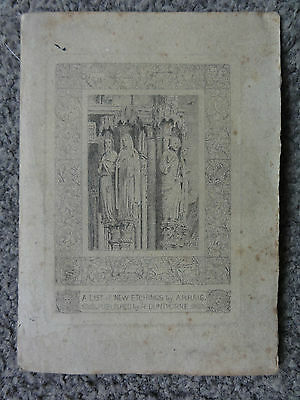 Axel Herman Haig R.e. - Booklet - Etchings Of The Cathedral Church Of Chartres