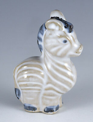 "Miniature Ceramic Zebra Figurine 2.5"" High"