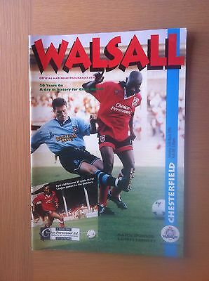 Walsall V Chesterfield 1995-96