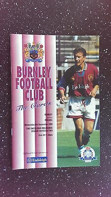 Burnley V Walsall 1995-96