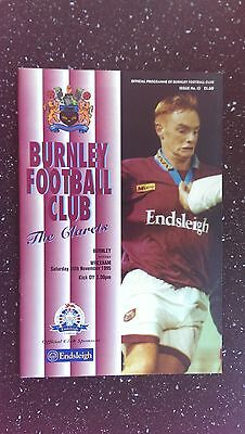 Burnley V Wrexham 1995-96
