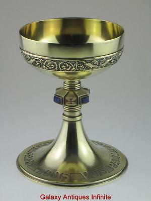 Large Antique Solid Silver Communion Church Chalice Goblet Circa 1900 French