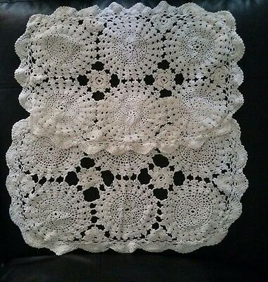 Absolutely Beautiful Hand Made  Doilies Lot Antique